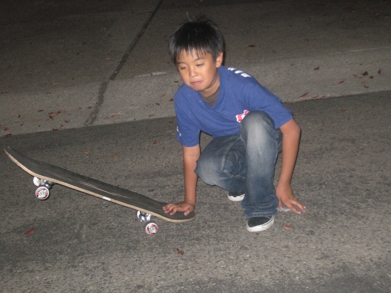 DannyDino and skateboard